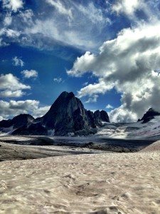 View of the Spires from the Vowell Glacier.
