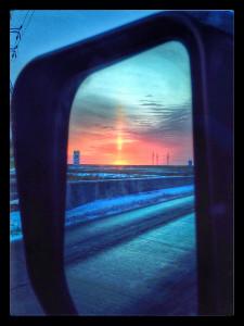 early morning solar flare east of winnipeg iphone photos